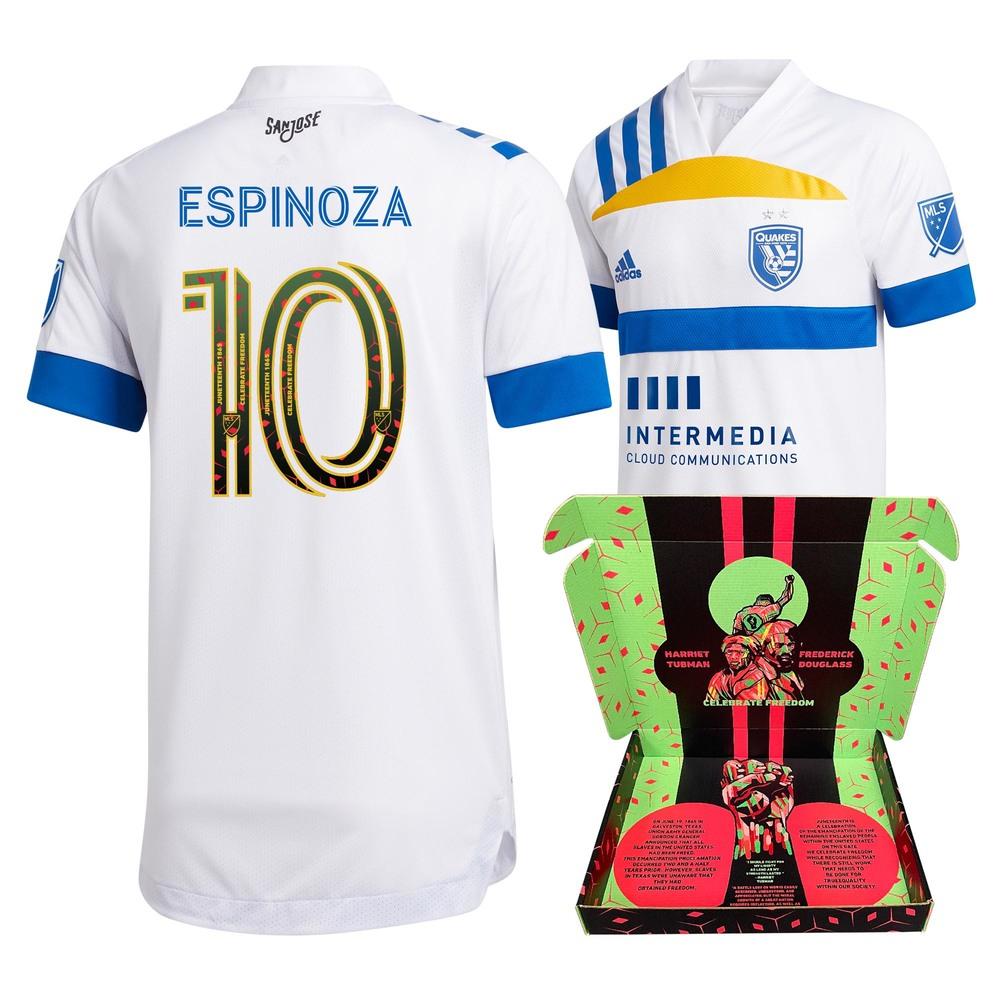 Cristian Espinoza San Jose Earthquakes Match-Used & Signed