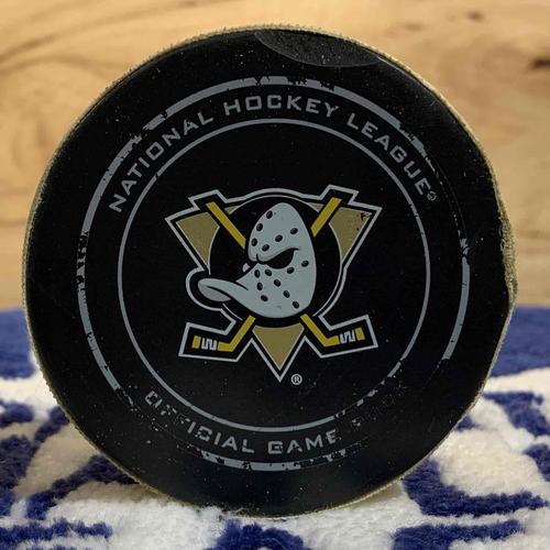 Jonathan Bernier 11th NHL Career Shutout Puck (Jan 6/16 @ ANA)