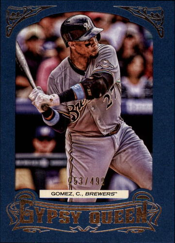 Photo of 2014 Topps Gypsy Queen Framed Blue #163 Carlos Gomez