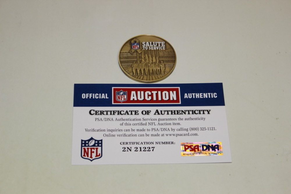 STS - BENGALS USAA GAME USED FLIP COIN (NOVEMBER 5 2015)