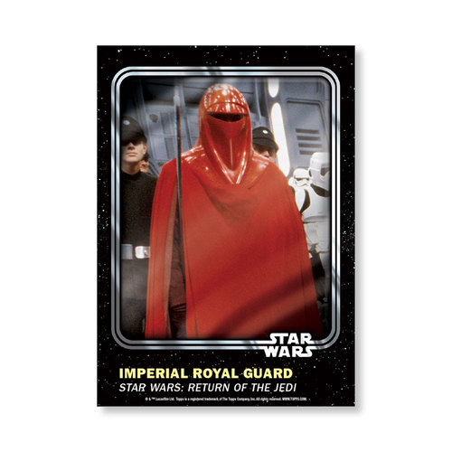 Imperial Royal Guard 2016 Star Wars Card Trader Base Poster - # to 99