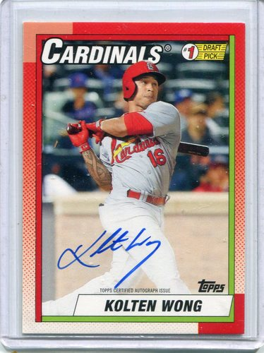 Photo of 2015 Topps Archives '90 Topps #1 Draft Picks Autographs Kolten Wong 074/199