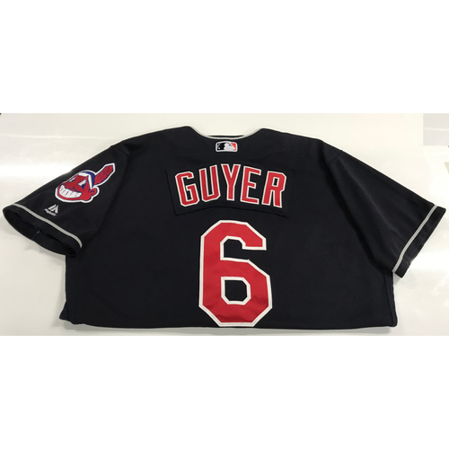 Photo of Brandon Guyer Game-Used 2018 Opening Day Jersey (Road 3/29 @ SEA & Home 4/6 vs. KC)