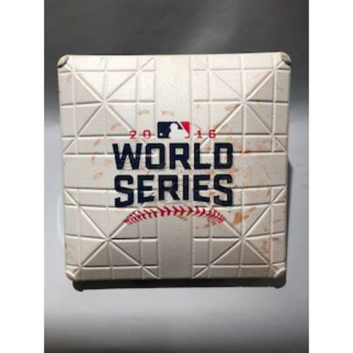 Photo of 2016 World Series Base - 3rd Base used in innings 7-8 of Game 7  - 11/02/16