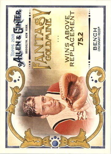 Photo of 2018 Topps Allen and Ginter Fantasy Goldmine #FG34 Johnny Bench