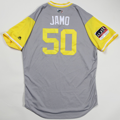 "Photo of Jameson ""Jamo"" Taillon Pittsburgh Pirates Game-Used Jersey 2018 Players' Weekend Jersey"
