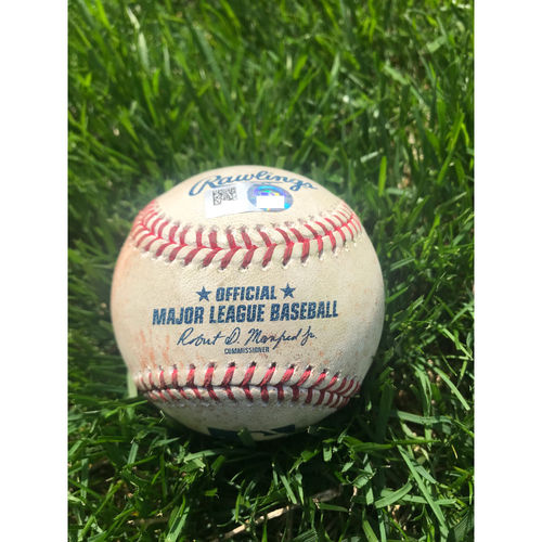 Photo of Cardinals Authentics: Game Used Baseball Pitched by Michael Wacha to Eric Hosmer and Manny Machado *Hosmer walk, Machado Single*