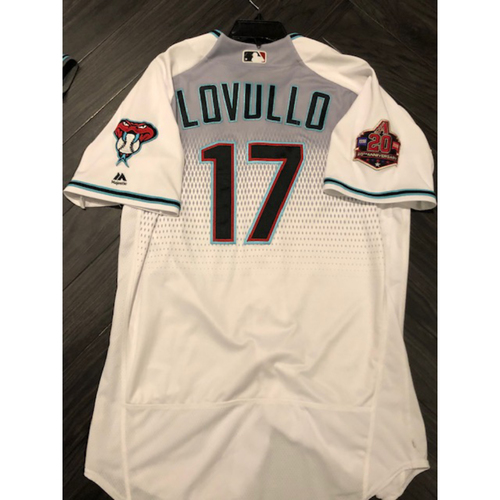 2018 Game-Used Jersey - 2017 Manager of the Year #17 Torey Lovullo