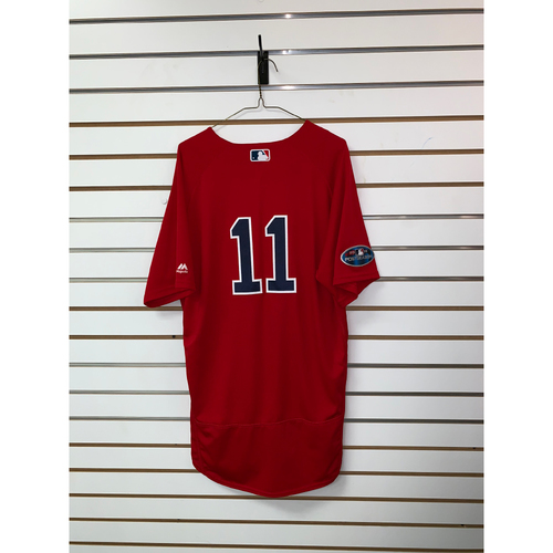 Photo of Rafael Devers Game Used September 28, 2018, October 5 & 6, 2018 Home Alternate Jersey
