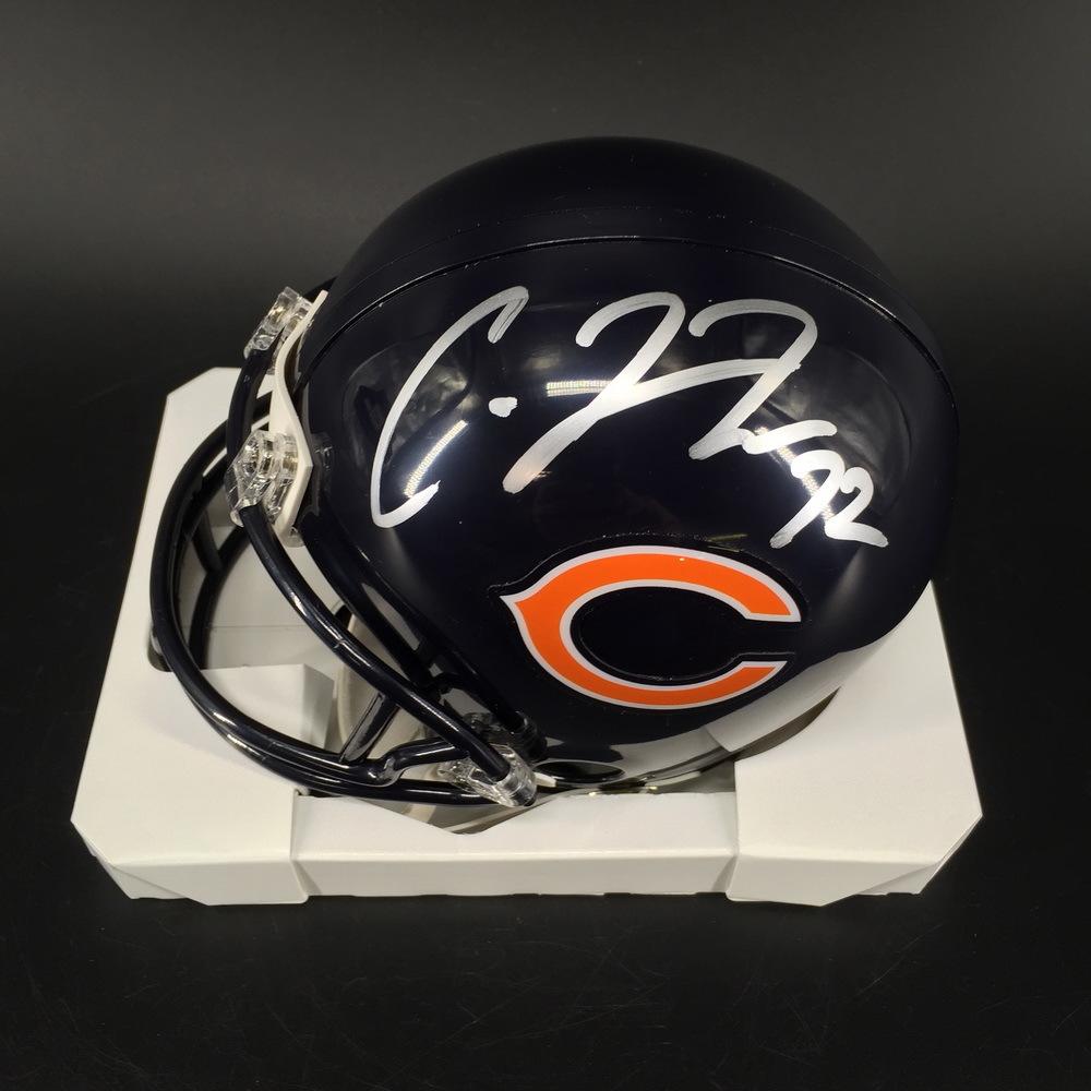 NFL - Bears Charles Leno Jr. Signed Mini Helmet