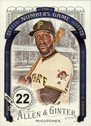 Photo of 2016 Topps Allen and Ginter The Numbers Game #NG10 Andrew McCutchen