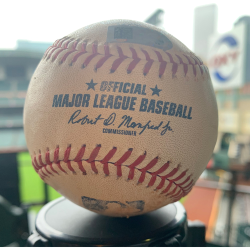 Photo of Houston Astros Game-Used Baseball: Pitcher: Blake Treinen, Batter: Jose Altuve - Double - Bot 8 - 7/24/19 vs. OAK