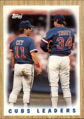 Photo of 1987 Topps #581 Cubs Team/(Ron Cey and/Steve Trout)