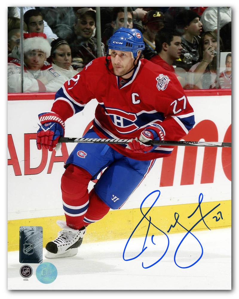 Alexei Kovalev Montreal Canadiens Autographed Habs Captain 8x10 Photo