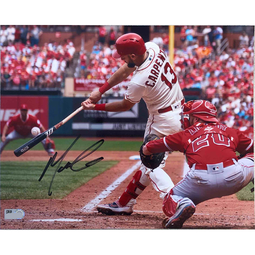 Photo of Cardinals Authentics: Matt Carpenter Batting Autographed Photo