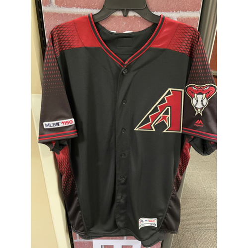 Photo of Taijuan Walker 2019 Team-Issued Black Alternate Jersey (Size 48)