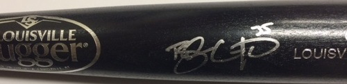 Photo of Brandon Crawford Autographed Black Louisville Slugger Bat