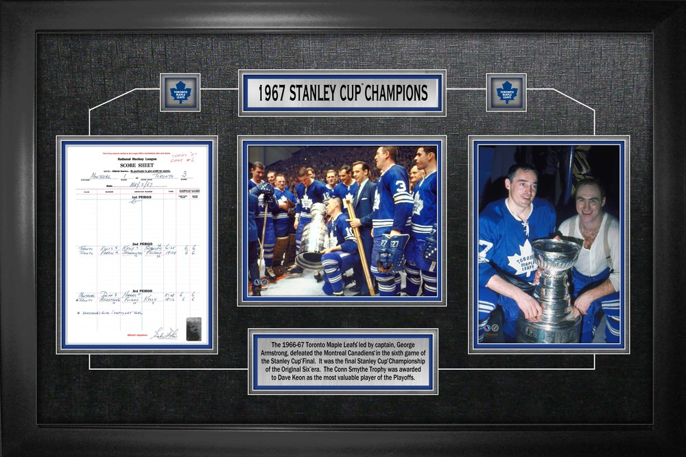 Toronto Maple Leafs - Framed Scoresheet Collage 1967 Stanley Cup Champions