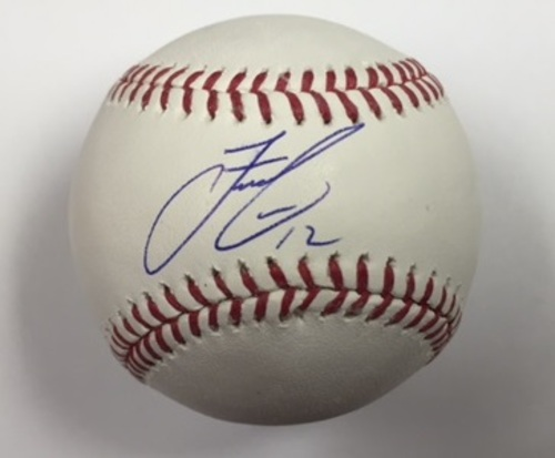 Photo of Francisco Lindor Autographed Baseball