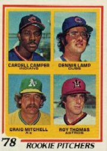 Photo of 1978 Topps #711 Rookie Pitchers/Cardell Campe RCr/Dennis Lamp RC/Craig Mitchell/Roy Thomas RC DP
