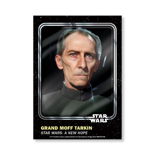 Grand Moff Tarkin 2016 Star Wars Card Trader Base Poster - # to 99