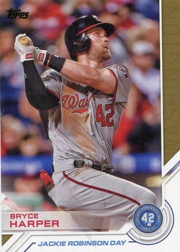 Photo of 2017 Topps Jackie Robinson Day #JRD16 Bryce Harper