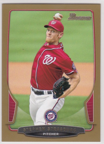 Photo of 2013 Bowman Gold #104 Stephen Strasburg