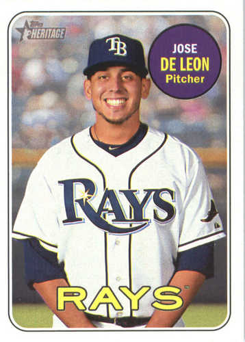 Photo of 2018 Topps Heritage #383 Jose de Leon