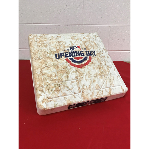 Photo of Game-Used 1st Base: Home Opening Day