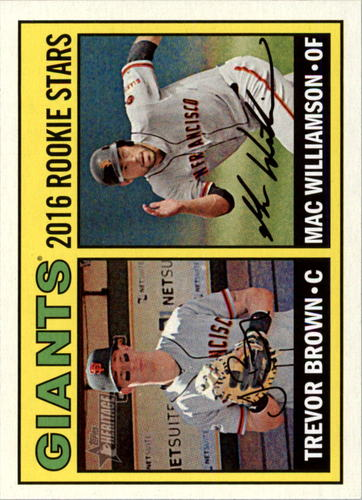 Photo of 2016 Topps Heritage #187 Trevor Brown RC/Mac Williamson RC