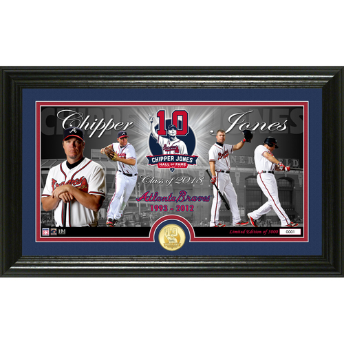 Photo of Chipper Jones 2018 National Baseball Hall of Fame Induction Panoramic Bronze Coin Photo Mint