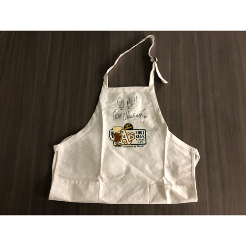 Photo of Scott Hatteberg Autographed Apron - Not MLB Authenticated