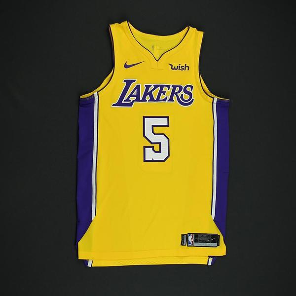 Josh Hart - Los Angeles Lakers - Game-Worn Rookie Debut Jersey (Worn in 2  Games) - 2017-18 Season 4cee044f0