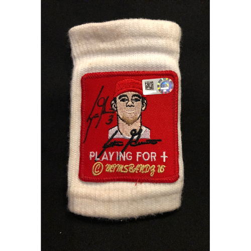 Photo of Scooter Gennett -- Autographed Wristband -- 2018 Season