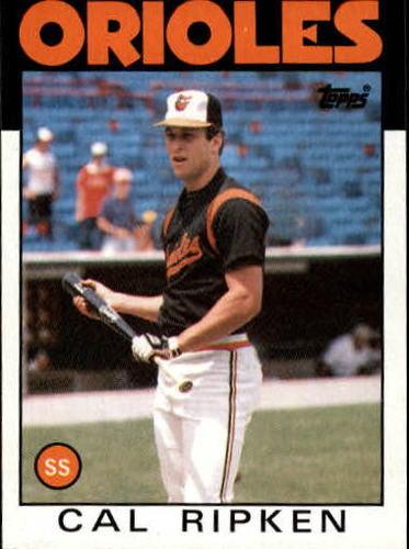 Photo of 1986 Topps #340 Cal Ripken