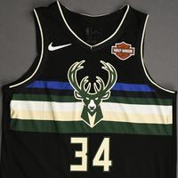 Giannis Antetokounmpo - Milwaukee Bucks - Christmas Day' 19 - Game-Worn City Edition Jersey - Double Double