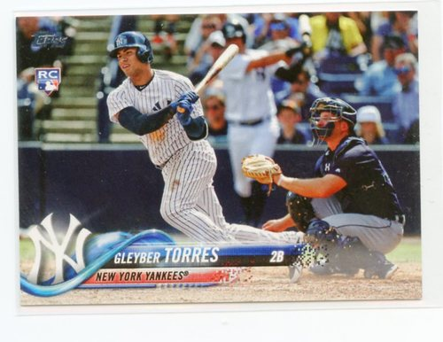 Photo of 2018 Topps Base Set Photo Variations #699A Gleyber Torres/Bat in both hands S2