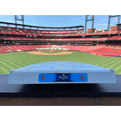 Photo of Cardinals Authentics: Game Used 3rd Base Cardinals vs. Braves Game 4 of NLDS *Innings 7-10*
