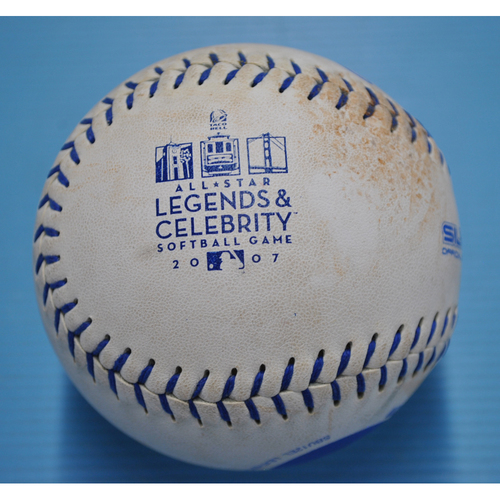 Photo of Game-Used Baseball - 2007 Celebrity All-Star Game - Robbie Thompson Home Run Ball Pitched by Goose Gossage - 5th Inning