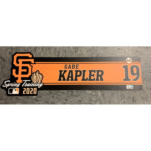 Photo of 2020 Spring Training Locker Tag - #19 Gabe Kapler
