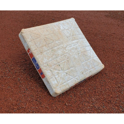 Photo of 2020 Phillies Game-Used Base - Mickey Moniak First Career Hit, Rafael Marchan First Career Home Run