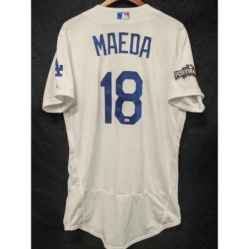 Photo of Kenta Maeda Team-Issued 2016 Home Postseason Jersey
