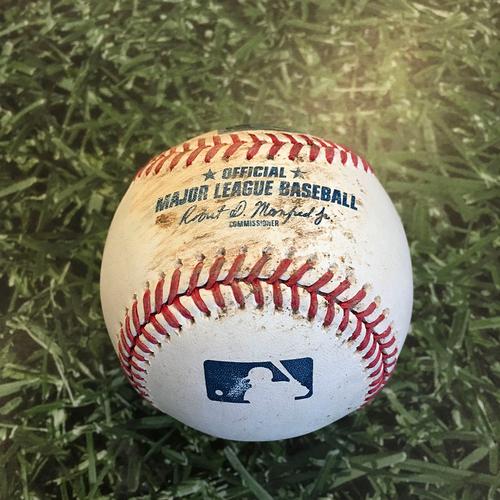 Photo of Game-Used Baseball CHC@MIL 09/11/20 - Jon Lester - Jedd Gyorko: Ball