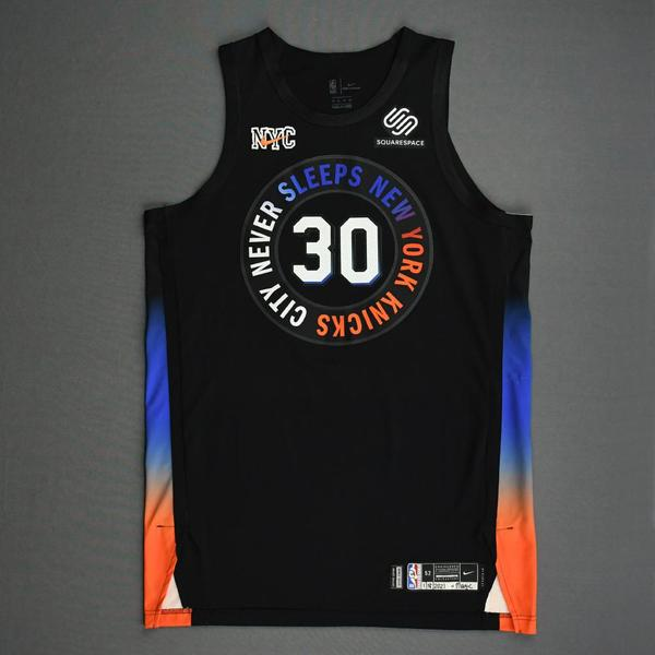 Image of Julius Randle - New York Knicks - Game-Worn City Edition Jersey - Recorded a Double-Double - 2020-21 NBA Season