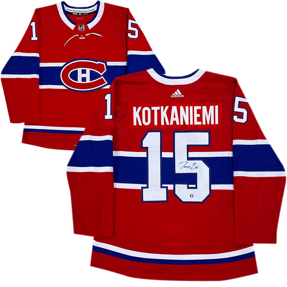 Jesperi Kotkaniemi Autographed Montreal Canadiens adidas pro Jersey