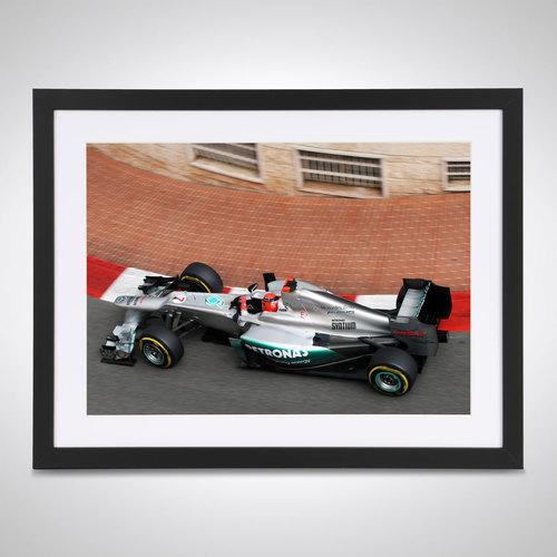 Photo of Michael Schumacher 2012 Monaco GP - James Moy Print