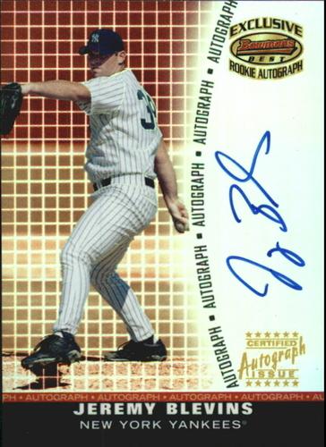 Photo of 2001 Bowman's Best Exclusive Autographs #BBEAJB Jeremy Blevins