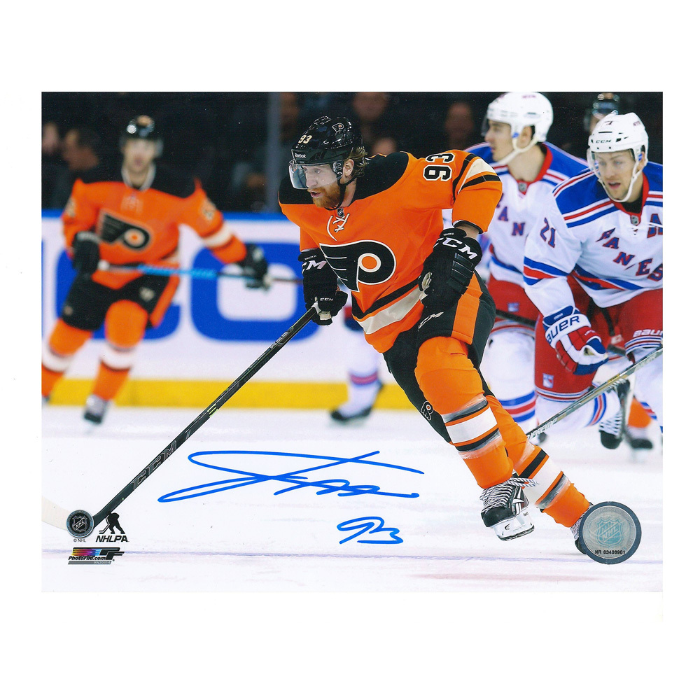 JAKUB VORACEK Signed Philadelphia Flyers 8 X 10 Photo - 70291 A