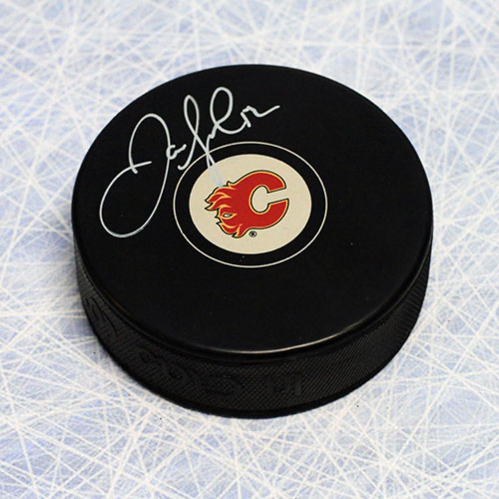 Jarome Iginla Calgary Flames Autographed Hockey Puck