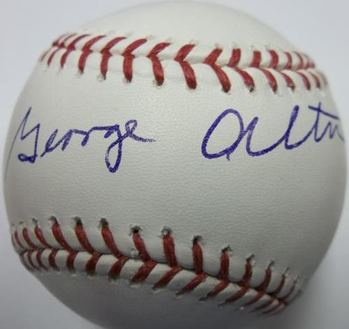 Photo of George Altman Autographed Baseball